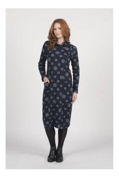 TEXTURED CLOUD PRINT DRESS