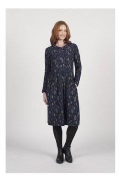 TEXTURED LEAF DRESS