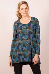 WOODLAND LEAF PRINT TUNIC