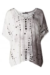 ABSTRACT SPOT PRINTED TOP