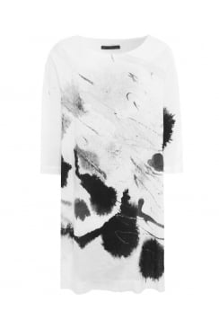 BATWING ABSTRACT PRINT TUNIC