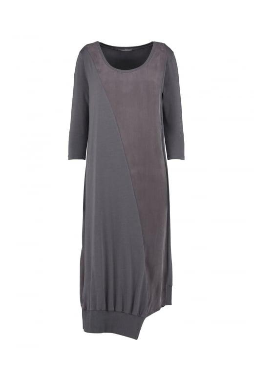 Crea Concept Charcoal Brown 3/4 Sleeve Dress