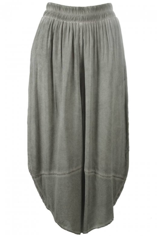 Crea Concept GREY WASH RELAXED EASY TROUSERS