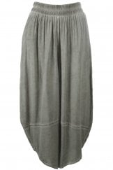 GREY WASH RELAXED EASY TROUSERS