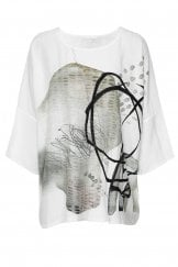 OVERSIZED ABSTRACT TOP