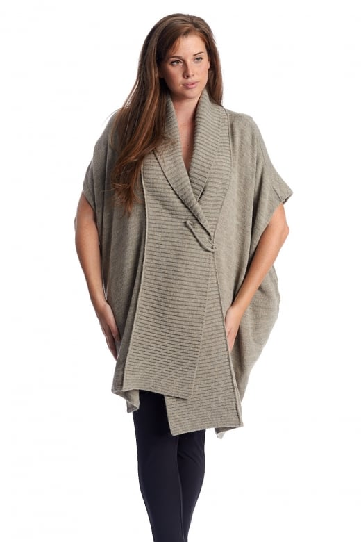 Crea Concept OVERSIZED KNITTED SLEEVELESS CARDIGAN