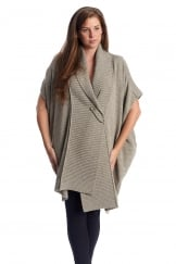 OVERSIZED KNITTED SLEEVELESS CARDIGAN