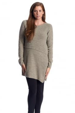 SIDE SPLIT KNITTED JUMPER