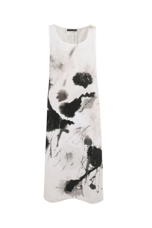 Crea Concept SLEEVELESS ABSTRACT SPLASH PRINT SLEEVELESS DRESS