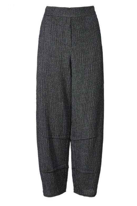 Crea Concept TEXTURED WIDE LEG BALOON TROUSERS