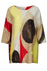 WATERCOLOUR OVERSIZED TUNIC TOP