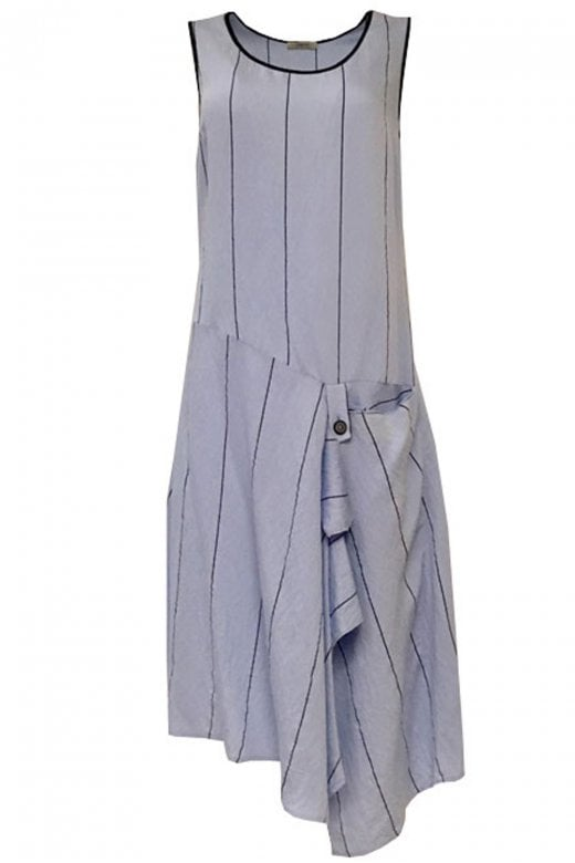 Crea Concept WIDE STRIPE SLEEVELESS DRESS