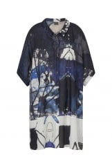WOVEN ABSTRACT PRINT SHIRT