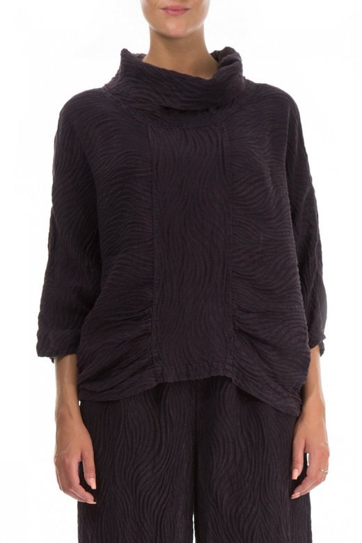 Grizas COWL NECK TEXTURED TOP