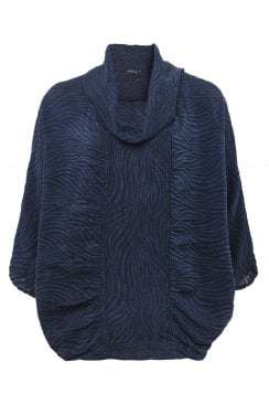 COWL NECK TEXTURED TOP