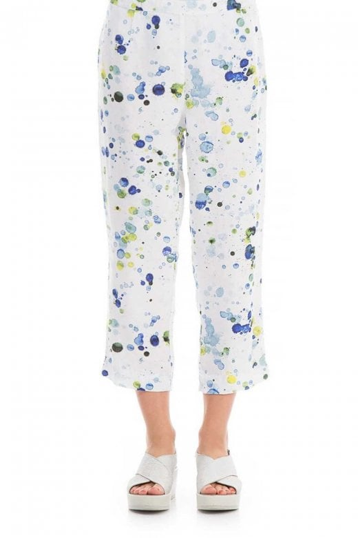 Grizas SPLATTER LINEN TROUSER