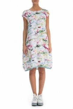 SPLATTER PRINT BALLOON DRESS