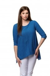 TEXTURED SILK COTTON TOP