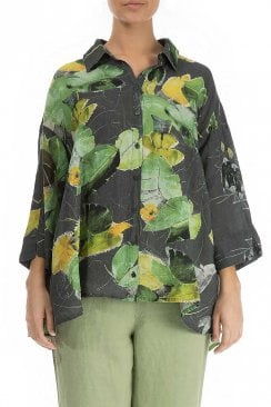 WATERLILLIES FLARED SHIRT