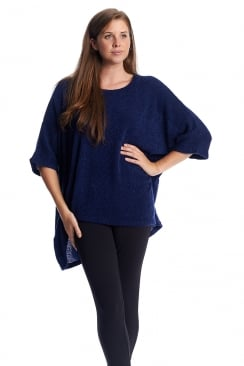 OVERSIZED BOUCLE TOP