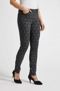 GRACE PRINTED SLIM TROUSER