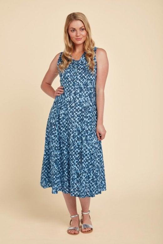Adini LEANNE DRESS BRUNNEL PRINT