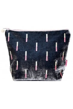 EMBRIODERED STICKS LARGE COSMETIC PURSE