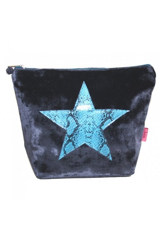 LUA SNAKESKIN STAR LARGE COSMETIC PURSE