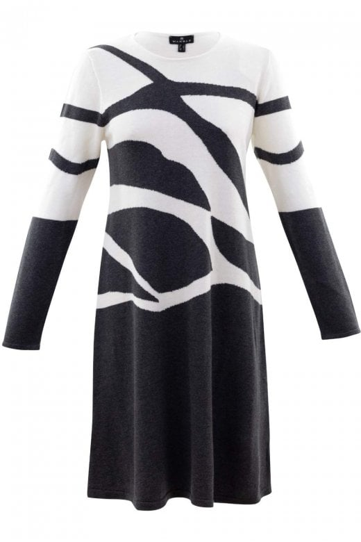 MARBLE CLOTHING ABSTRACT KNITTED JUMPER DRESS