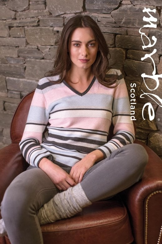 MARBLE CLOTHING BLOCK STRIPE JUMPER