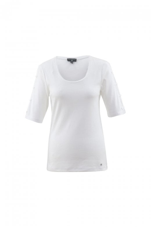 MARBLE CLOTHING BOW DETAIL SLEEVES T-SHIRT