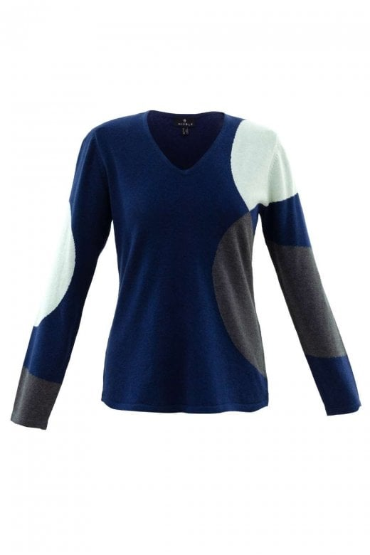MARBLE CLOTHING CIRCLE PATTERN COTTON KNIT JUMPER