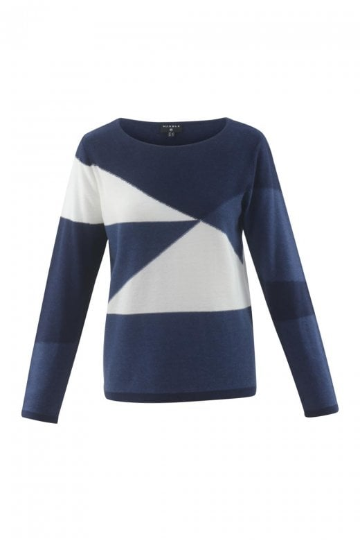 MARBLE CLOTHING GEOMETRIC DESIGN SWEATER