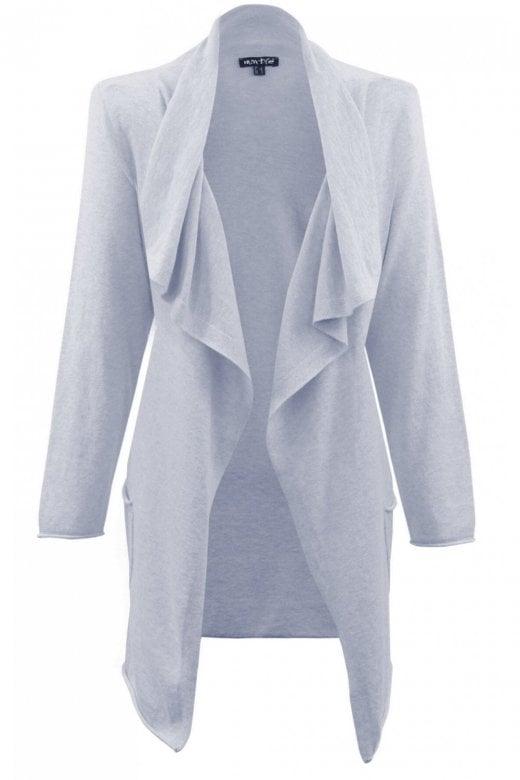 MARBLE CLOTHING GREY WATERFALL CARDIGAN