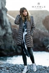 QUILTED LONG LINE COAT