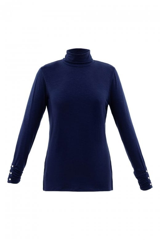 MARBLE CLOTHING ROLL NECK LONG SLEEVE TOP