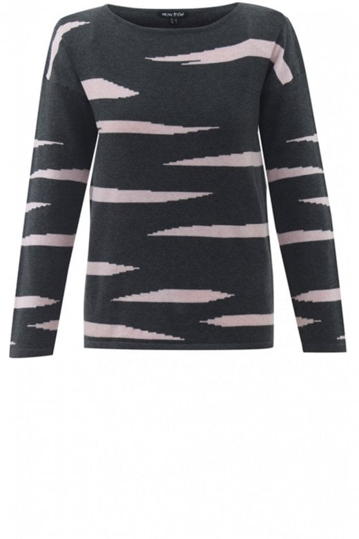 MARBLE CLOTHING STRIPE DESIGN COTTON KNIT JUMPER