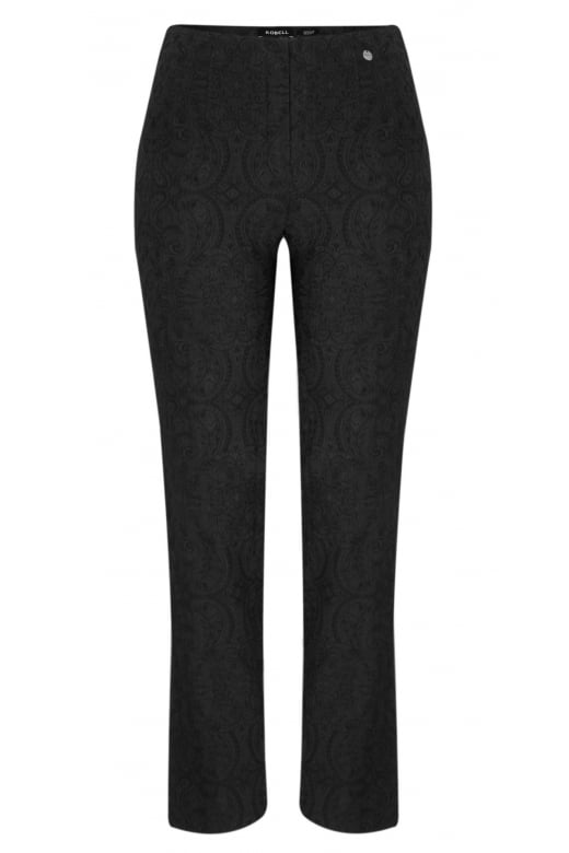 Robell Trousers MARIE JACQUARD STRETCH TROUSER