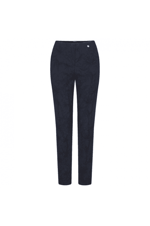 Robell Trousers MARIE LEAF JACQUARD TROUSER
