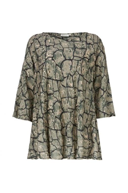 Masai Clothing BELLE 3/4 SLEEVE BIAS TOP