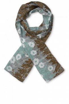 FLORAL PRINTED ALONG SCARF