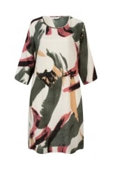 NANI HALF SLEEVE FITTED DRESS