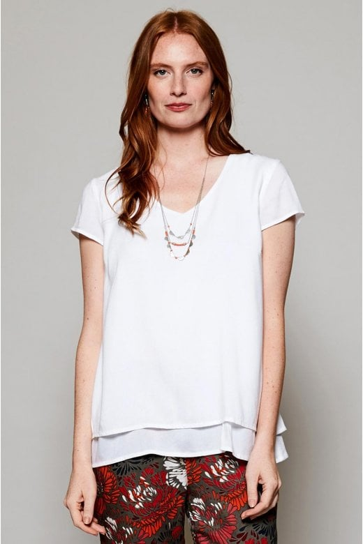 Nomads Clothing CAP SLEEVE DOUBLE LAYER TOP