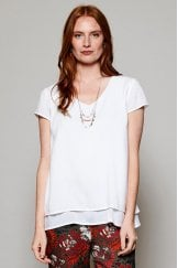 CAP SLEEVE DOUBLE LAYER TOP
