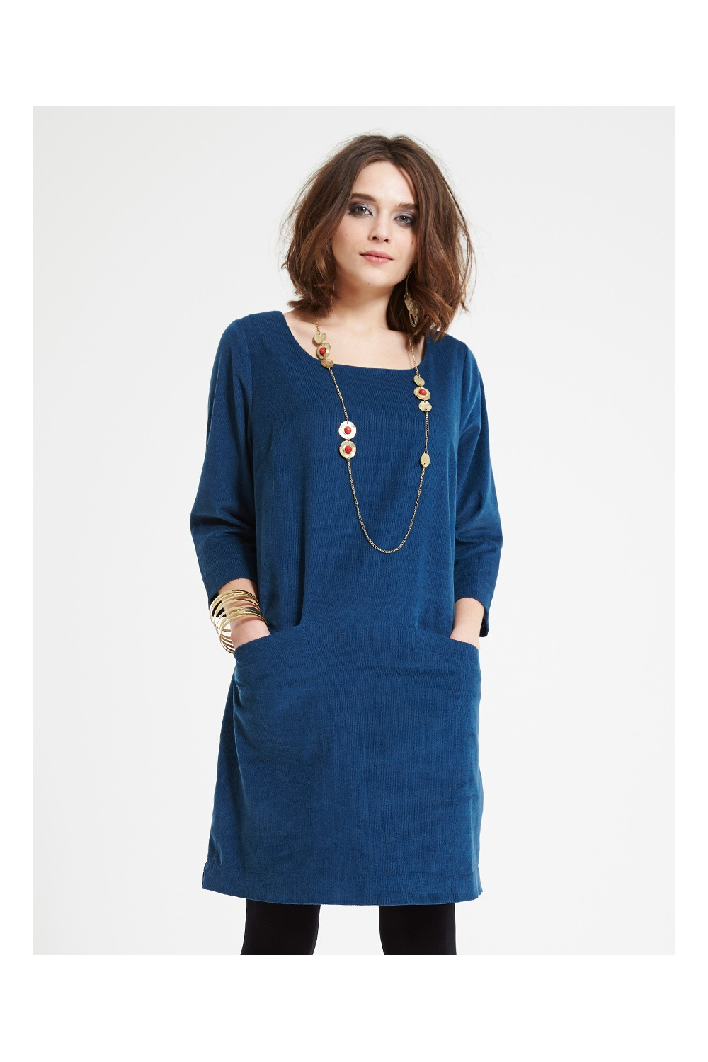 cotemporary cord tunic dress from nomads clothing
