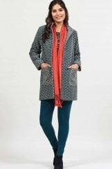 FUNNEL NECK HANDLOOM COAT