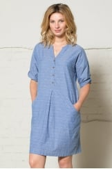 JAQUARD SHIRT DRESS