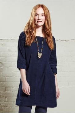 NEEDLE CORD TUNIC DRESS