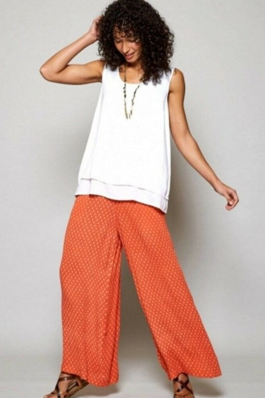Nomads Clothing RICE PRINT WIDE LEG TROUSER