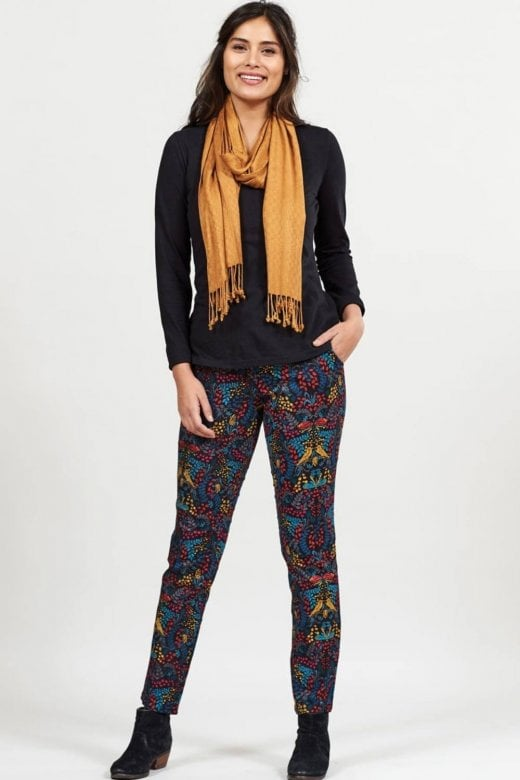 Nomads Clothing SLIM LEG PRINTED STRETCH TROUSERS